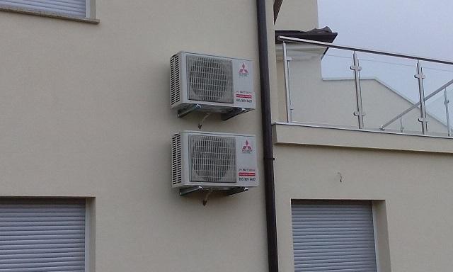 Ugradnja klima uređaja na stiropor fasadu