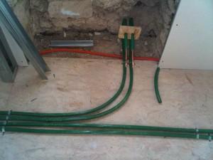 Priprema radijatori cijevi zid