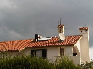 Solarno grijanje montaža