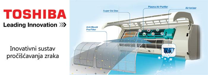 Toshiba inovativna filtracija zraka