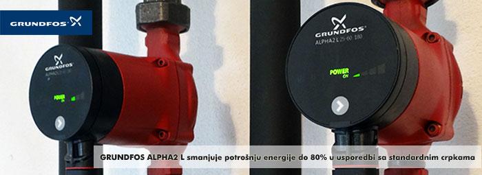 Grundfos Alpha2 cirkulacijske pumpe