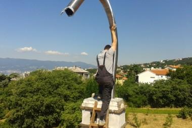 sanacija dimnjaka inox cijevima